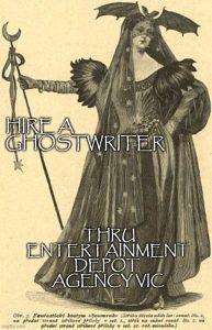 Hire a ghostwriter thru Entertainment Depot agency vic